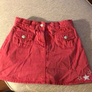 Cute red Gymboree skirt with stars